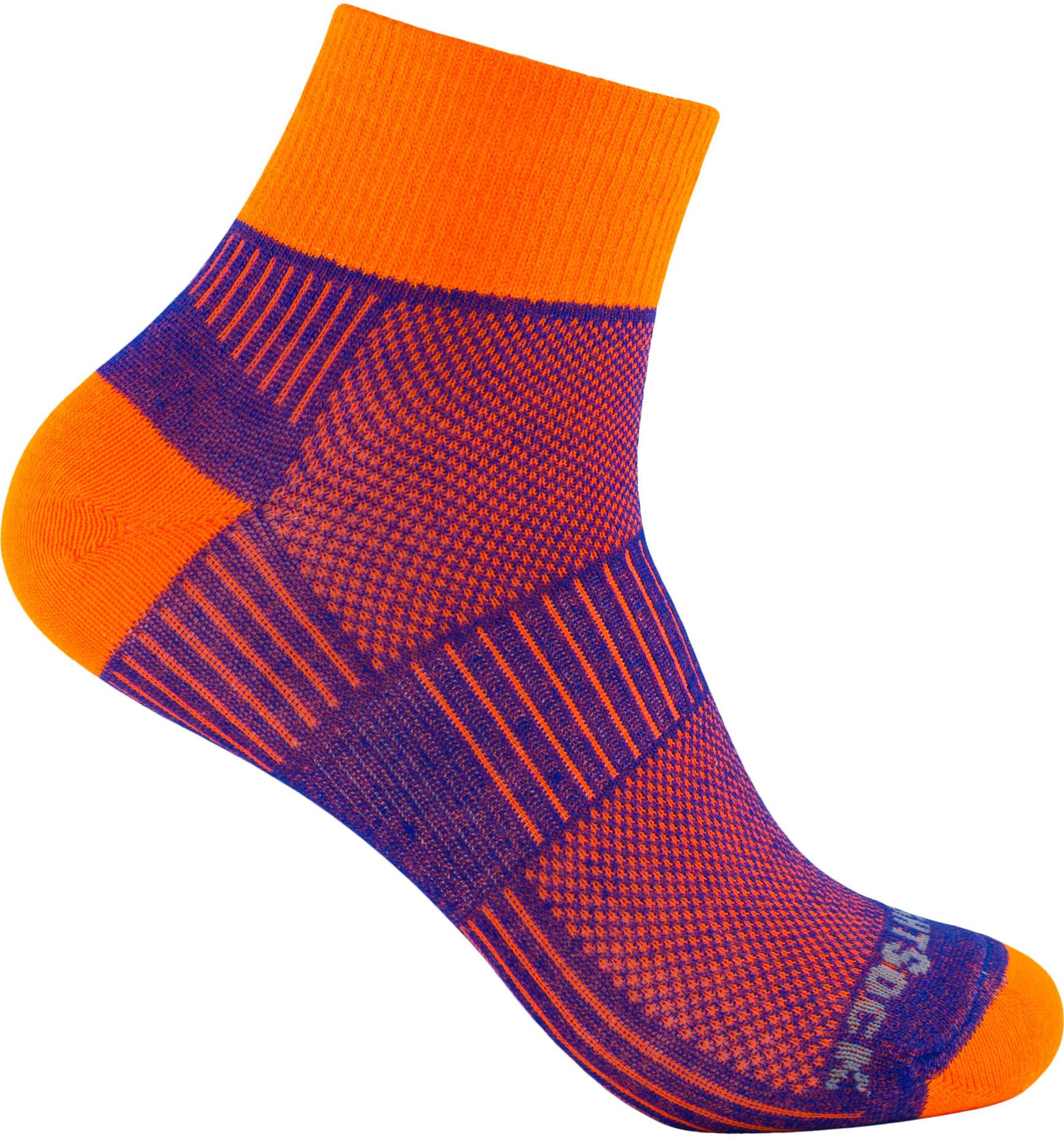 wrightsock coolmesh ii quarter sokken oranje violet l outdoor winkelwrightsock coolmesh ii quarter sokken oranje violet
